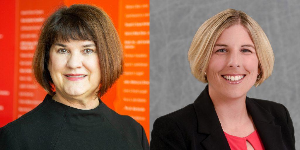Images of grant awardees Dr. Hiller Spires, principal investigator, and Dr. Erin Krupa, co-principal investigator.