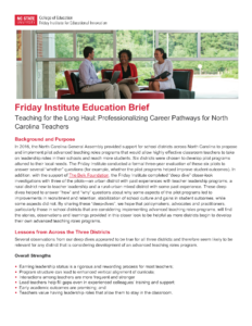 Teaching for the Long Haul: Professionalizing Career Pathways for North Carolina Teachers